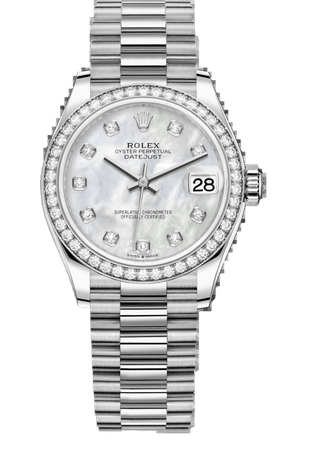 Rolex Datejust 31 Watch: 18 ct white gold - 278289RBR