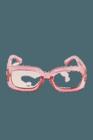 Regina Glitter Rectangle Sunglasses | Urban Outfitters