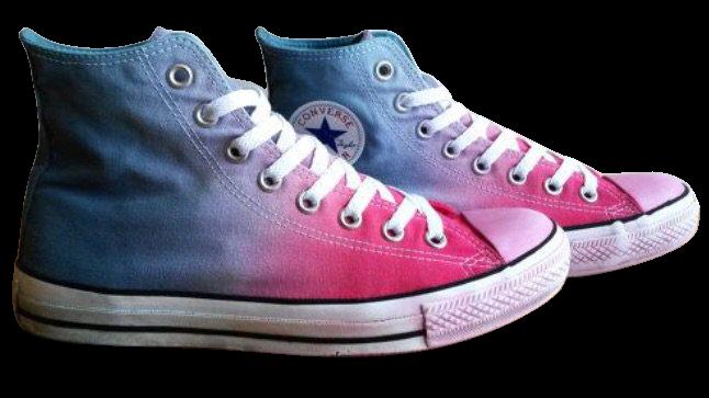 pink purple blue converse