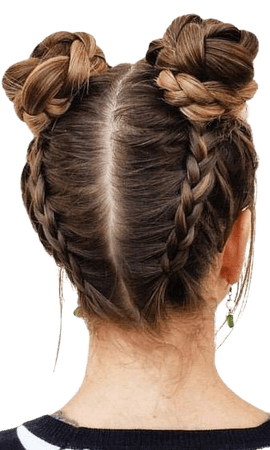 Wraparound Braided Buns - The Space Bun Trend Is Still Going Strong - Livingly