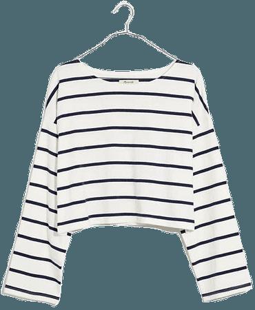Supercrop Long-Sleeve Tee in Stripe