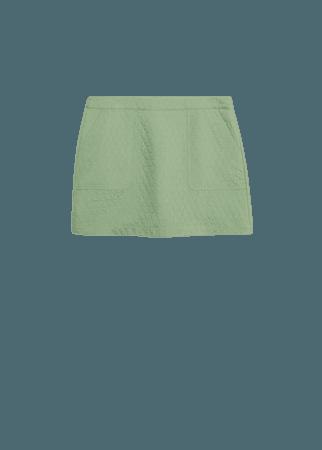 Textured miniskirt - Women | Mango USA