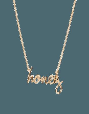 Glamorous gold honey necklace | ASOS