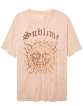 Tailgate Women's Sublime Oversized Tie-Dye Graphic T-Shirt