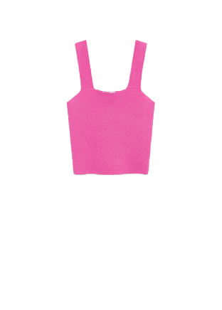Ribbed crop top - Women | Mango USA