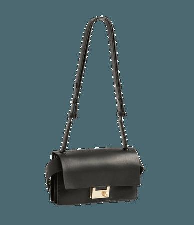 ALLSAINTS US: Womens Teca Leather Crossbody Bag (black)
