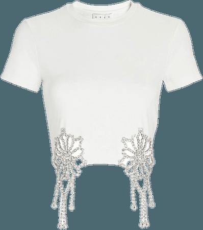 AREA Crystal-Embellished T-Shirt | INTERMIX®