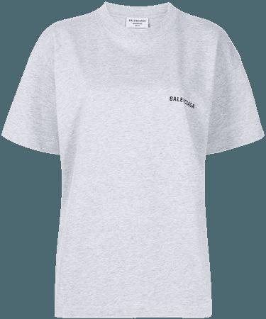 Balenciaga logo-print Cotton T-shirt - Farfetch