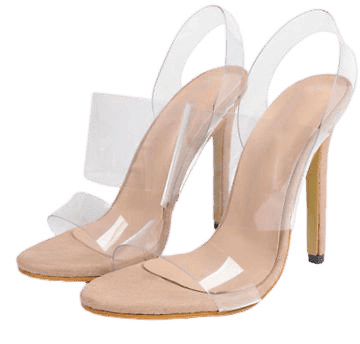 12 cm Heels Women Transparent Clear High Heel Shoes Jelly Sandals Shoes | eBay