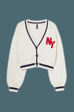 Knit Cardigan - Cream - Ladies | H&M US