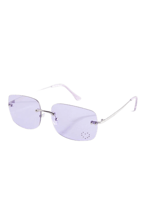 Cher Rimless Rectangle Sunglasses | Urban Outfitters