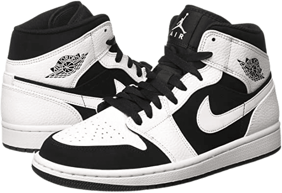 *clipped by @luci-her* Jordan Nike Men's Air 1 Mid White/Black/Wht Basketball Shoe 12 Men US   Basketball