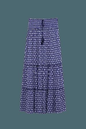 Long flowing printed skirt - pull&bear