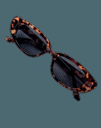 ASOS DESIGN slim cat eye sunglasses   ASOS