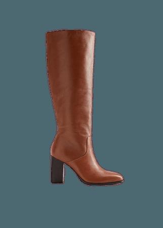 Μπότα δερμάτινη ψηλή - Γυναίκα | Mango ΜΑΝΓΚΟ Ελλάδα