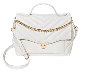 Quilted Top Handle Turn Key Closure Satchel Handbag - A New Day™ Off White : Target