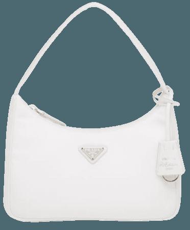 White Re-Edition 2000 Nylon Mini Bag (Prada.com)