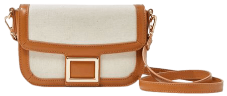Flap-Top Structured Crossbody Bag