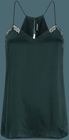 Embroidered V-neck Silk Cami   Express