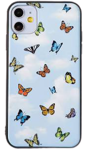 IPhone 11 Blue Butterfly case with clouds