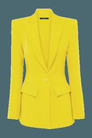 Alex Crepe Blazer - Yellow