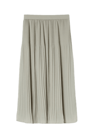 Pleated Skirt - Light sage green - Ladies | H&M US