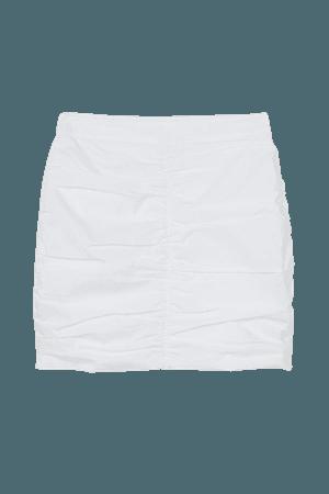Draped Skirt - White - Ladies | H&M US