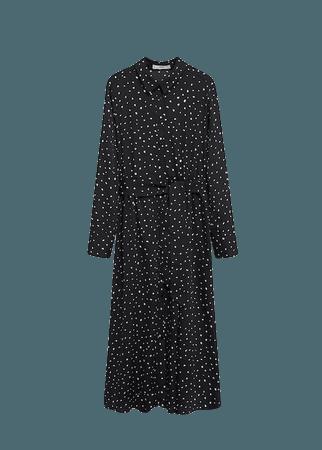 Printed shirt dress - Women   Mango USA