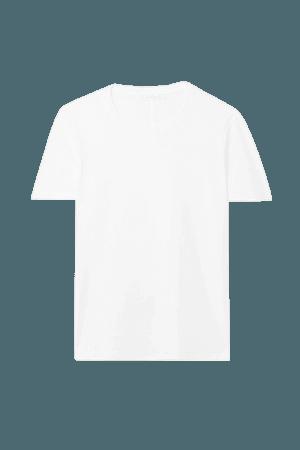 Wesler Cotton-jersey T-shirt - White