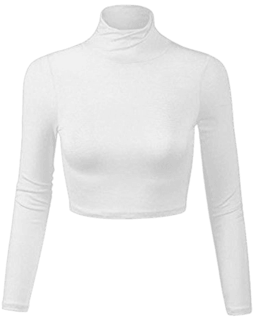 White Turtleneck Crop