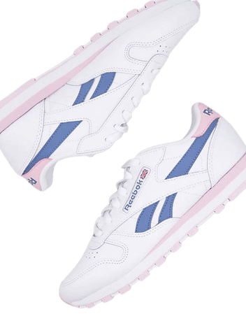 Reebok Classic Leather sneakers in white and lilac   ASOS