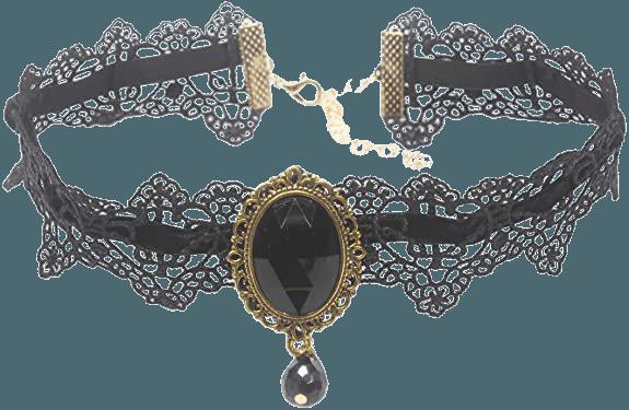 Amazon.com: MEiySH Retro Handmade Lace Royal Court Vampire Choker Gothic Necklace Black Pendant Chain-Black: Clothing, Shoes & Jewelry
