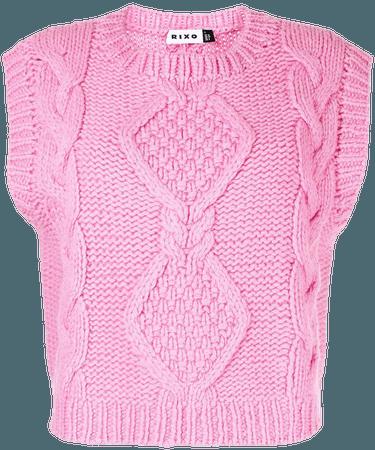 Rixo cable-knit crew-neck Vest - Farfetch