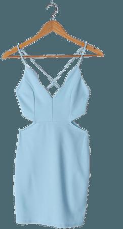 Light Blue Mini Dress - Cutout Dress - Bodycon Dress - Mini Dress - Lulus