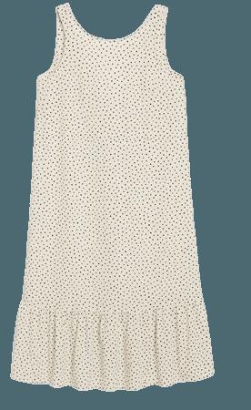 Sleeveless midi dress - Polka dot print - Midi dresses - Monki WW