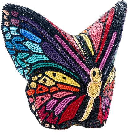 Butterfly Crystal Clutch