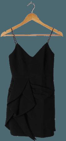 Black Mini Dress - Tulip Mini Dress - Ruffled Sleeveless Dress - Lulus
