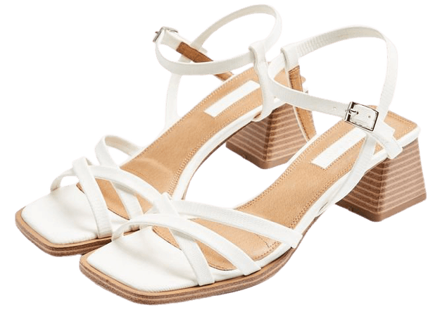 DIVINE White Block Sandals | Topshop