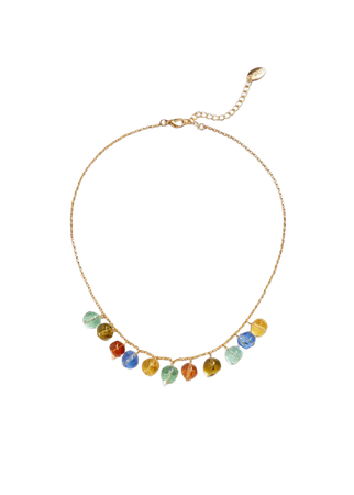 Pendant crystals necklace - Women | Mango USA