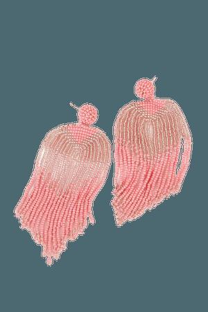 Pink Beaded Earrings - Fringe Earrings - Seed Bead Earrings - Lulus