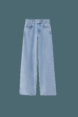 High-rise wide-leg jeans - pull&bear