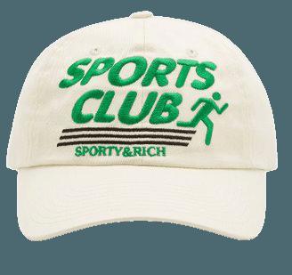 Sports Club Cotton Baseball Cap By Sporty & Rich   Moda Operandi