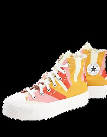 Converse Chuck Taylor All Star Lift Hi Summer Spirit sneakers in multi | ASOS