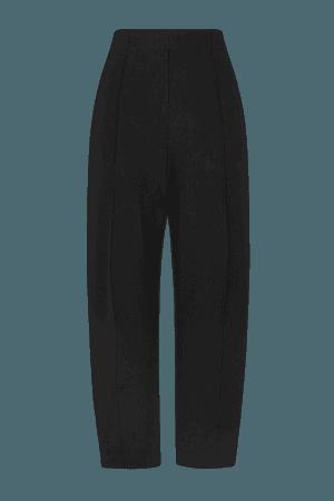 Rio Cropped Straight-leg Stretch-ponte Pants - Black