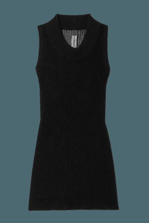 Membrane Ribbed Cotton Tank - Black