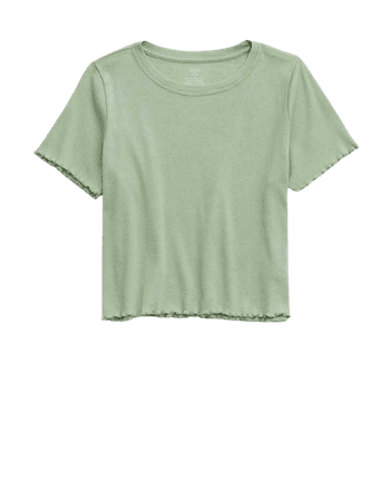 Aerie Ribbed Lettuce Trim Baby T-Shirt