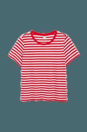 Soft tee - Red stripes - T-shirts - Monki WW