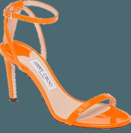 Jimmy Choo Minny Neon Patent Sandal (Women) | Nordstrom