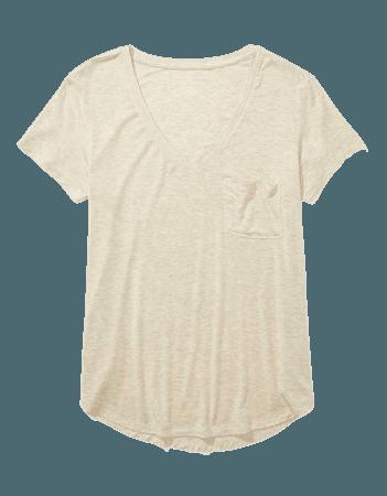 AE Soft & Sexy V-Neck Pocket T-Shirt