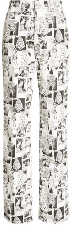 Reformation Newsprint High Waist Straight Leg Jeans (Comic) | Nordstrom